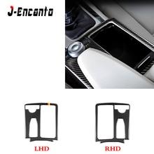 LHD/RHD Carbon Fiber Indoor Gear Cup Panel Decorative Fittings For Mercedes Benz C-Class E-Class W204 C180 C200 E260 E300