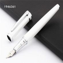 Alta qualidade Baoer 3035 Medium Nib Caneta Branco Pérola Novo escritório Papelaria Estudante fornece canetas de tinta