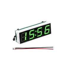 цена на DIY Electronic Clock Module 3 in 1 Car Digital Tube LED Voltmeter Thermometer Time LCD Display Automobile Table Clocks Dial
