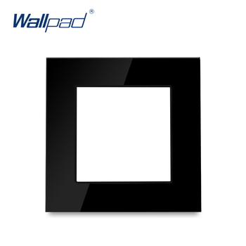 S6 Series Glass Switch and Socket DIY Combination Wall Button Light witch Power Outlet Socket Crystal Black Glass DIY Wallpad 7