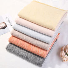 2019 Winter Scarf Plaid Foulard Thick Women Cashmere Scarves New Neck Warm Hijabs Pashmina Lady Shawls And Wraps Bandana Tassel(China)