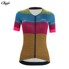 CHEJI Women'S Cycling jersey Short sleeves Pro team Bicycle Clothing Quick Dry Bike Shirt top