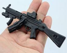 1/6 MP5SD5 Submachine 1/6 пластиковая Сборная модель огнестрельного оружия для 12