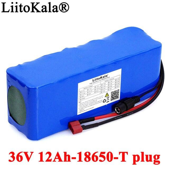 Liitokala 36V 12Ah 18650 batteria al litio 10s4p ad alta potenza 12000mAh moto auto elettrica bicicletta Scooter con BMS