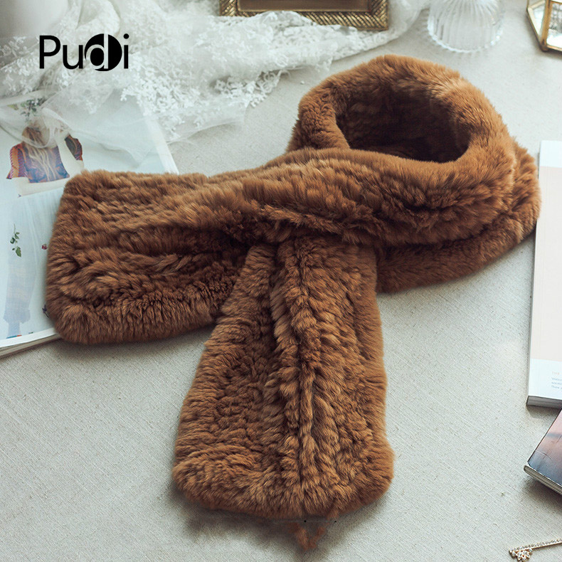 SCM056 The new women Winter women's scarf  real rex rabbit fur scarf  genuine fur brand new scarves wraps  with 6 colors