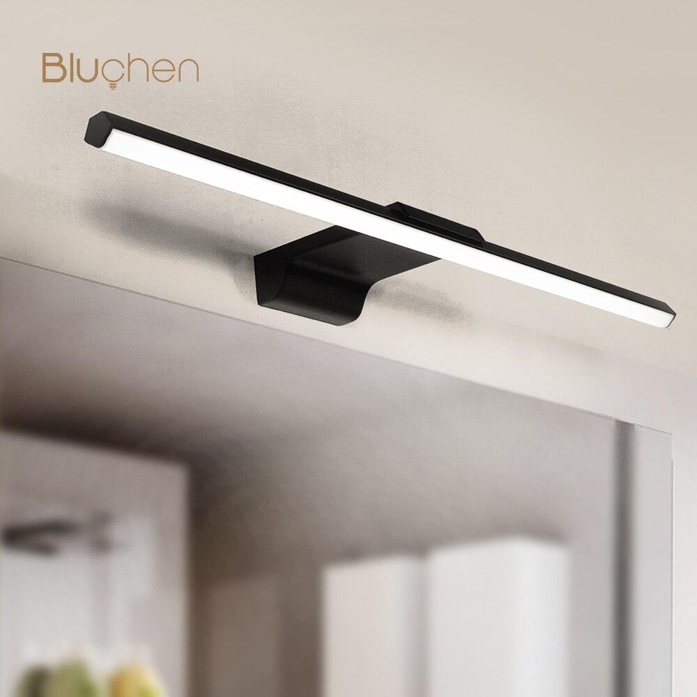 Современный светодиодный настенный светильник для дома Ванная комната лампы косметическое зеркало светильник s черный, белый цвет с регули...