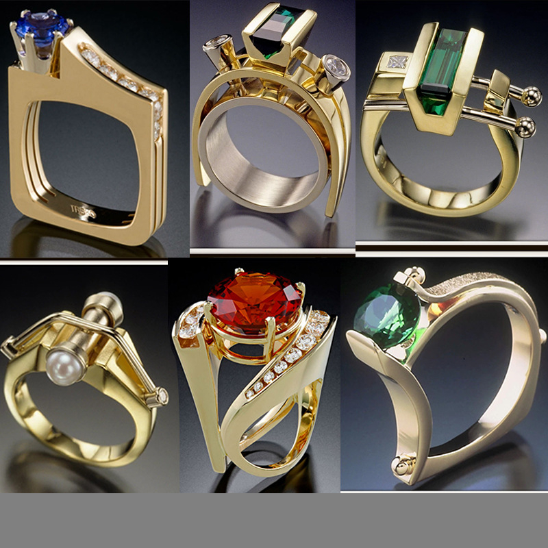 S925 Silver Color Pure Gemstone Topaz Ring For Women Men Anillos Wedding Hip Hop Fine Jewelry Emerald Silver 925 Jewelry Rings