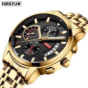 NIBOSI Relogio Masculino Top Brand Luxury Mens Watches Reloje Watch Men Fashion Sport Quartz Waterproof Business