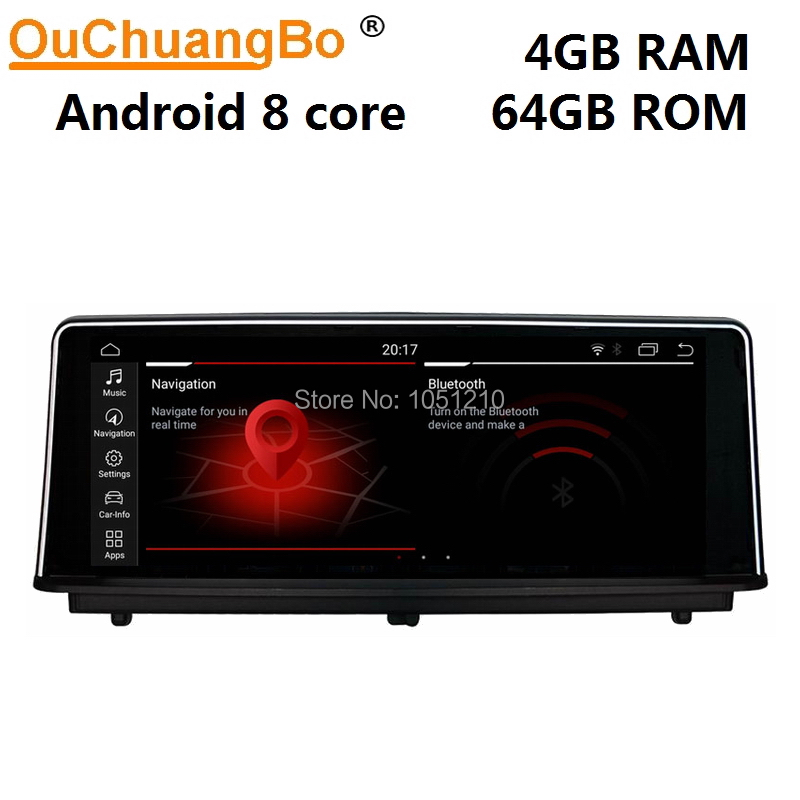 Ouchuangbo audio player radio recorder for 1 Series <font><b>F20</b></font> F21 2 Series F23 Cabrio with <font><b>Android</b></font> 9.0 8 core 4GB+64GB NBT system image
