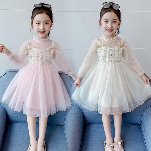 EACHIN dziewczęce sukienki moda dziecięca tiulowa sukienka balowa sukienka siatkowa patchworkowa sukienka księżniczka sukienki dziecięce dziecięce ubranka dla dzieci