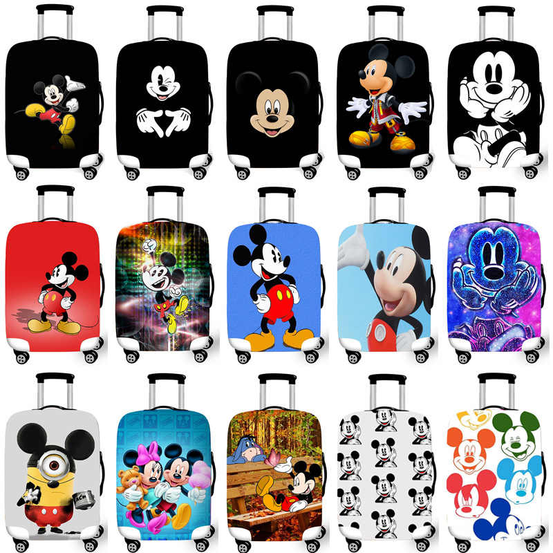 Luggage Protective Cover Case For Elastic 18-32 Inch Suitcase Protective Cover Cases Covers Xl Travel Accessories Mickey Minnie
