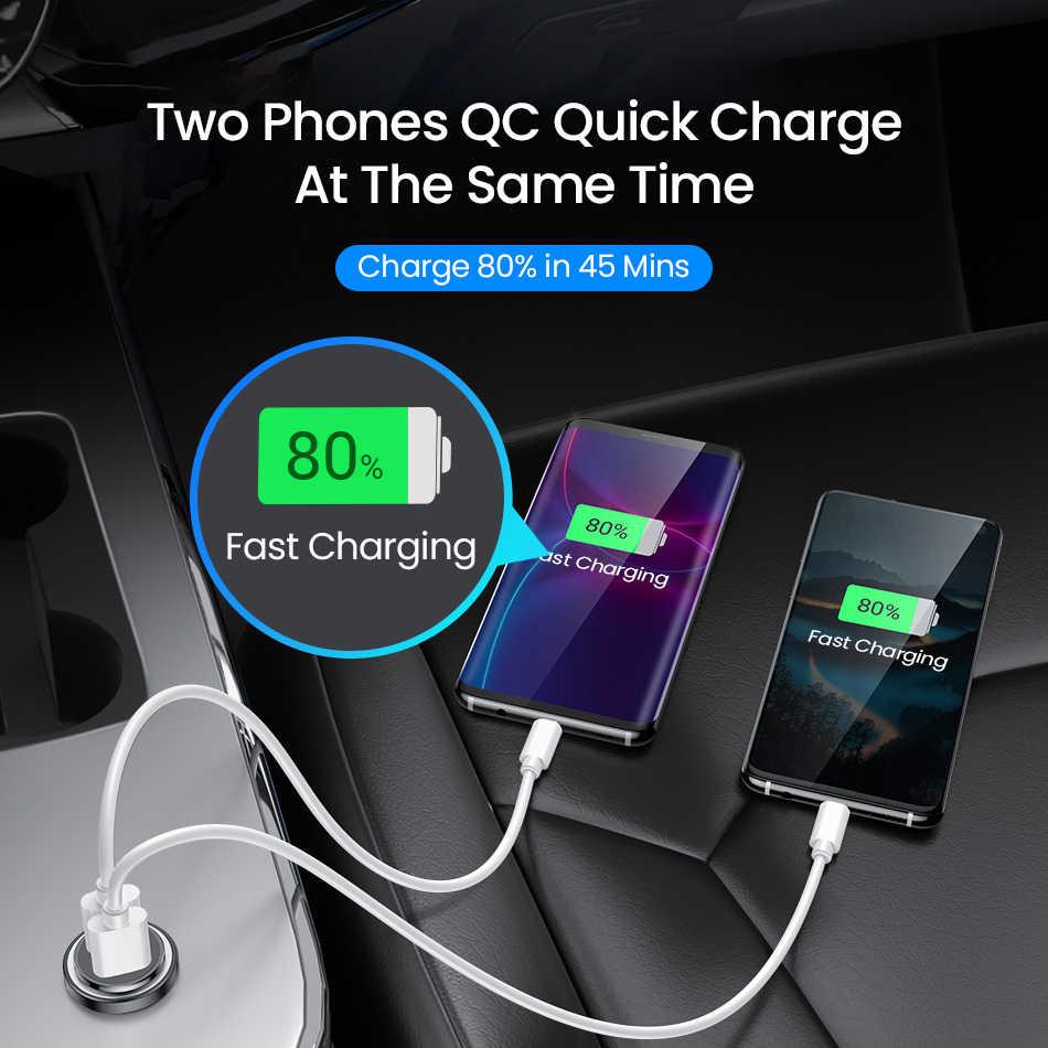 FIVI Dual QC 3,0 Автомобильное зарядное устройство для мобильного телефона PD3.0 зарядное устройство для iphone 11 pro Samsung huawei xiaomi Мини Автомобильное зарядное устройство все металлические