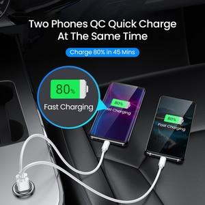 Image 3 - Fivi デュアル usb 高速車の充電器すべての金属車の充電器 pd qc 3.0 ミニ自動車電話充電器 iphone 11 プロサムスン huawei xiaomi