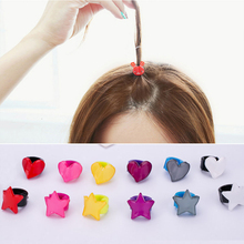 Mini Round Buckle Love Star Hairpin Clip Cute Cat Rabbit Hair Accessories Headwear Crystal for Little Girls