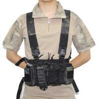 Gilet tattico militare Rivista Airsoft Paintball CS All'aperto di Protezione Leggero Maglia chest rig Pacchetto Del Sacchetto Del Sacchetto