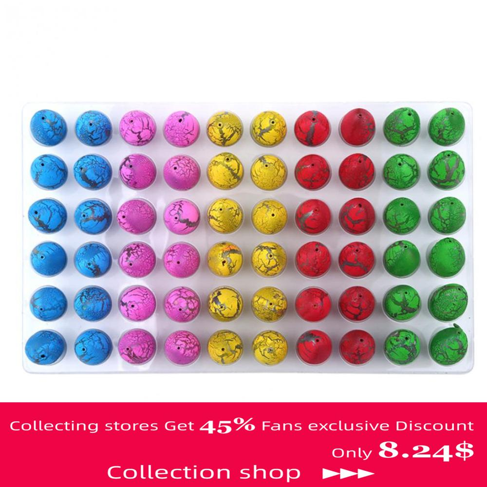 60Pcs/Sets Magic <font><b>Dinosaur</b></font> <font><b>Eggs</b></font> <font><b>Toys</b></font> Water Hatching <font><b>Dinosaur</b></font> <font><b>Egg</b></font> <font><b>Toys</b></font> For Children Educational Novelty Gag <font><b>Toy</b></font> Kids Funny Gifts image