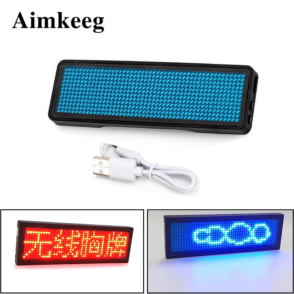 Wireless LED Lighting Logo Mobile App Bluetooth Diode Badge Programmable Lighting Board Letter Event Scroll Board