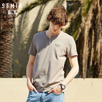 SEMIR 100% cotton short sleeve print men T shirt casual summer men t-shirt loose cool men tshirt tops tee shirt
