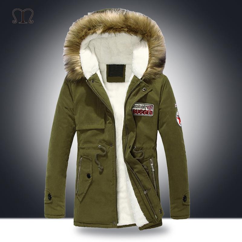 Fashion Men Warm Hooded Parka Winter Thicken Fleece Coat Outwear Jacket Overcoat