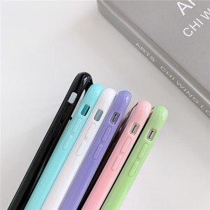Klar Telefon Fall Weichen Acryl Zurück Abdeckung Transparent für Iphone 11pro Max XR X XS Max 8 7 Plus SE2020 stoßfest Bunte Stoßstange
