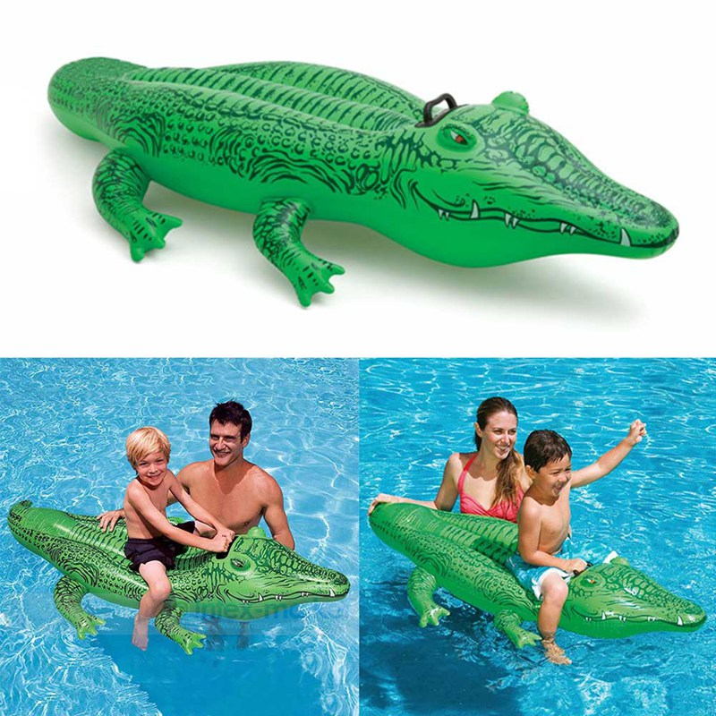 2019 Small Crocodile Inflatable Water Toy New Swimming Ring New Horse Riding Ring For Children Kids Play Water