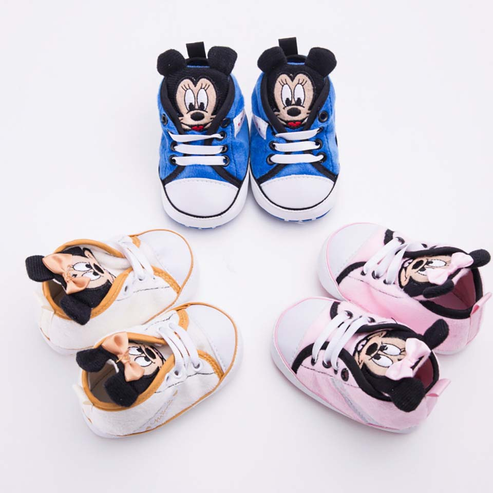 Baby Shoes Classic Canvas Baby Boy Shoes Spring Cotton Lace Up Newborn Boy Girl Shoes First Walker Prewalker Toddler Infant 0-18