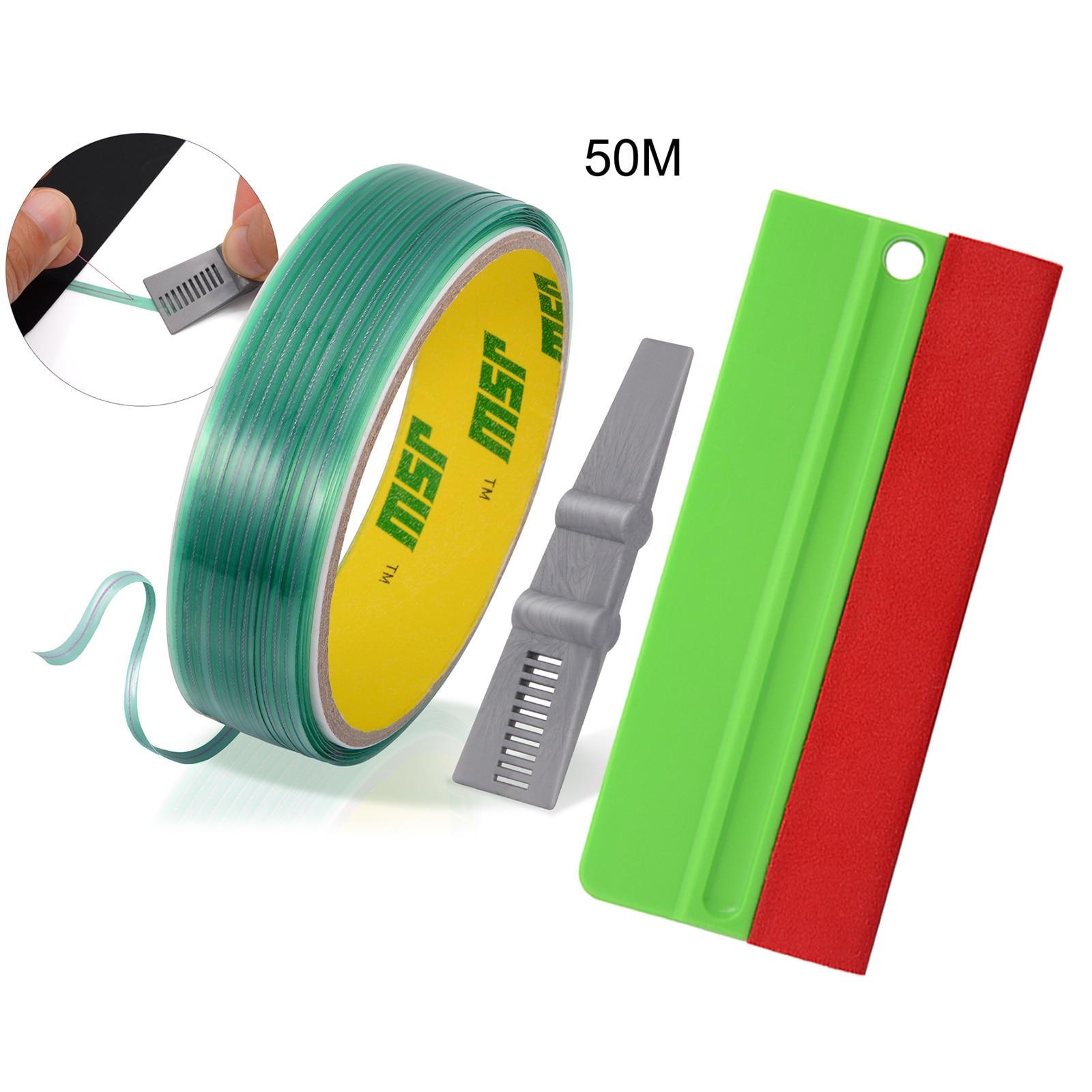 EHDIS Wrapping Vinyl Film Cutting Tape Carbon Fiber Wrap Scraper Squeegee Knifeless Design Line Cutter Car Styling Tint Tool Set