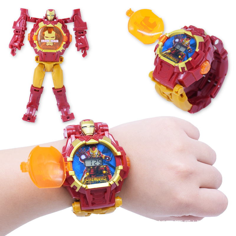 NEW Avengers 4 Spiderman Cartoon Children Watches Robot Batman Irom Captain America Kids Watch Boys Girls Wristwatch Relogio