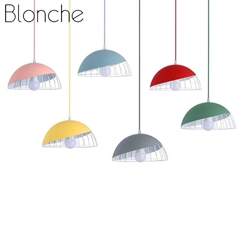 Blonche Nordic Pendant Lights Modern Hanging Lights for Living Room Bedroom E27 Round Loft Home Decor Lighting Fixture Luminaire|Pendant Lights| |  - title=