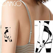 Sexy Belt Knife Savage Girl Temporary Tattoos Body Art Arm Shoulder DIY Feke Tatoo Paper Waterproof Realistic 3D Tattoo Sticker(China)