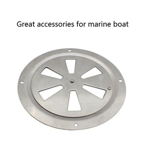 Image 4 - Stainless Steel 316 Marine Round Blower Louver Vent Cover Side Knob Opening 5 inch Air Louver Vent Boat Yacht Accessories