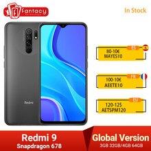 Xiaomi – Smartphone Redmi 9, Version globale, Helio G80, 32 go 64 go, écran FHD 6.53 pouces, caméra AI Quad 13mp, 5020mAh