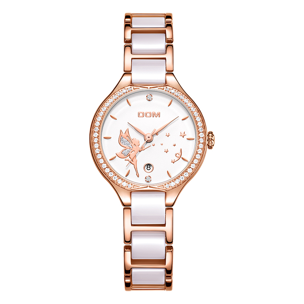 DOM watch women watches luxury famous brand montre femme 2019 ladies wristwatch reloj mujer relogio feminino rose Gold White