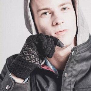 Image 3 - オリジナルyoupin fo指タッチスクリーン手袋女性男性冬暖かい用のベルベットの手袋電話タブレット誕生日クリスマスギフト
