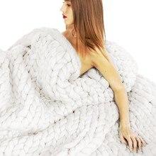 Ручные тканые плед на диван ткани, не сужающийся книзу трикотажное плед на кровать, одеяла для девочек, зима, весна, осень, Флисовое одеяло