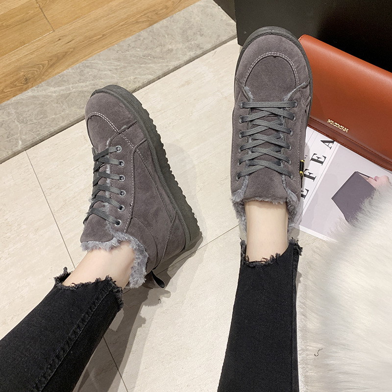 Women's winter sports shoes ladies snow boots casual students warm Martin boots winter plus cotton boots women's cotton shoes 5
