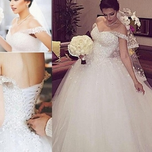 Винтажное кружевное бальное платье, свадебные платья, белое свадебное платье с длинным рукавом и v-образным вырезом