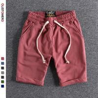 Pantalones cortos de algodón 100% para hombre, Shorts deportivos masculinos, informales, para correr, 2021