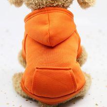 Худи для домашних собак пальто мягкая зимняя теплая флисовая