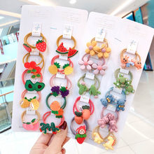 Raindo 1 Set New Girls Cute Candy Cartoon Fresh Fruit Rubber Bands Children Baby Sweet Elastic Hair Bands Kids Hair Accessories(China)