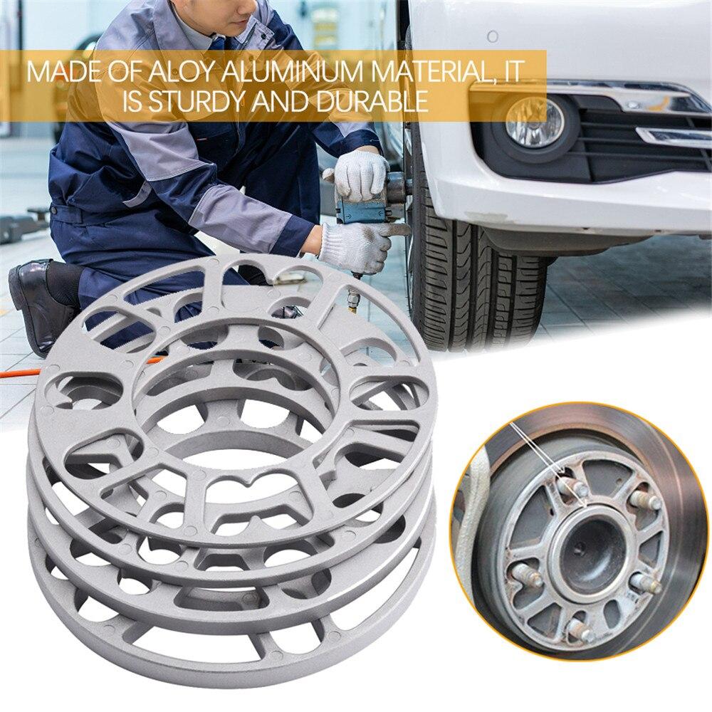 4PCS 3/5/8/10mm Adjusting Aluminum Car Wheel Spacer Car Modified Widened Wheel Hub ET Gasket Tire Car Accessories