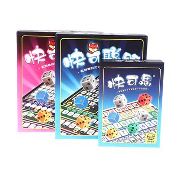 Najnowsze kartonowe karty do gry gry Qwixx gry imprezowe zabawna gra Party gry zabawne gry stołowe odpowiednie na imprezy tanie i dobre opinie CN (pochodzenie) LHOD135