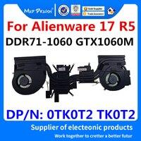 Laptop New original CPU/Graphics Cooling Heatsink Fan Assembly For Dell Alienware 17 R5 ALW17 R5 DDR71 GTX1060M 0TK0T2 TK0T2