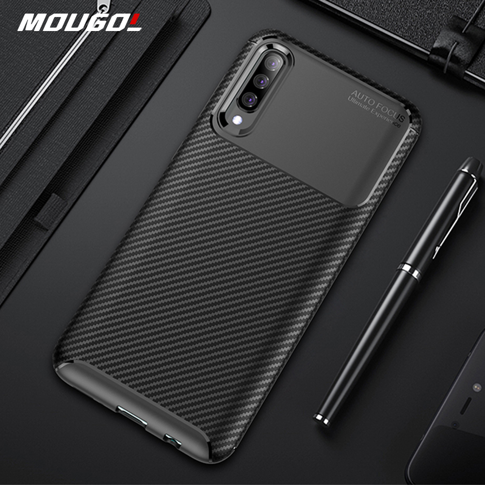 <font><b>For</b></font> <font><b>Samsung</b></font> Galaxy <font><b>A30s</b></font> A50s A70s <font><b>Case</b></font> Luxury Carbon Fiber Cover <font><b>Shockproof</b></font> Phone <font><b>Case</b></font> <font><b>For</b></font> <font><b>Samsung</b></font> A 50s 70s A 30 s Cover Bumper image