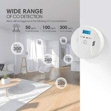 CO2 Sensor Detector Lcd-Indicator Carbon-Monoxide Smoke Home Wireless Poisoning