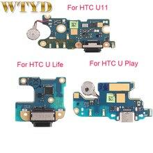 עבור HTC U11/U11 חיים/U לשחק טעינת יציאת לוח החלפת חלק עבור HTC U11 Usb טעינת Dock כוח מחבר להגמיש כבל
