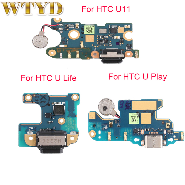 Htc u11/u11 life/u 재생 충전 포트 보드 교체 부품 htc u11 usb 충전 도크 전원 커넥터 플렉스 케이블