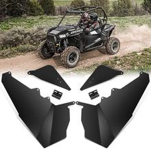 "UTV 50"" Trail Aluminum Lower Door Panel Inserts For Polaris RZR 900 2015 2016 2017 2018 2019 2 Doors Black"