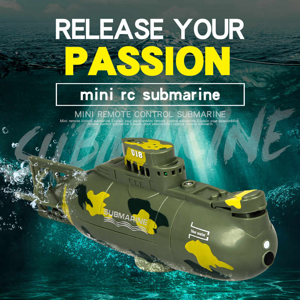 Rc barco Mini submarino 6CH velocidad barco Radio Control remoto submarina submarino eléctrico niños juguetes Static buceo modelo regalo
