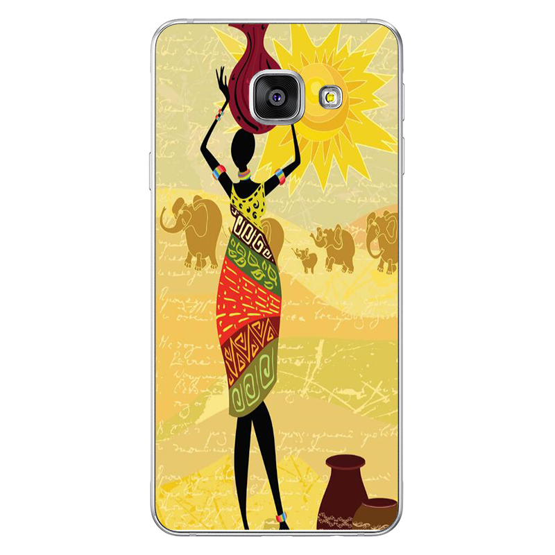 For Samsung galaxy S10 S7 case Arabic African girl Case For Samsung Galaxy S8 S9 Plus Black silicone cases J7 J5 A7 A8 Note7 TPU in Half wrapped Cases from Cellphones Telecommunications